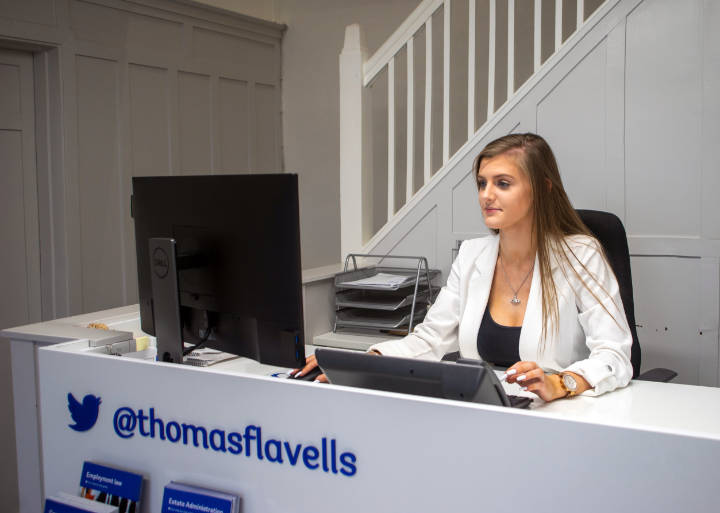 A photo of Thomas Flavell's Hinckley office reception staff
