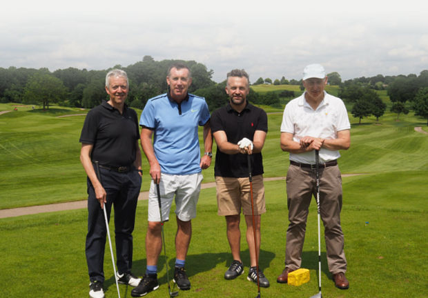 The Thomas Flavell team take part at a charity golf event